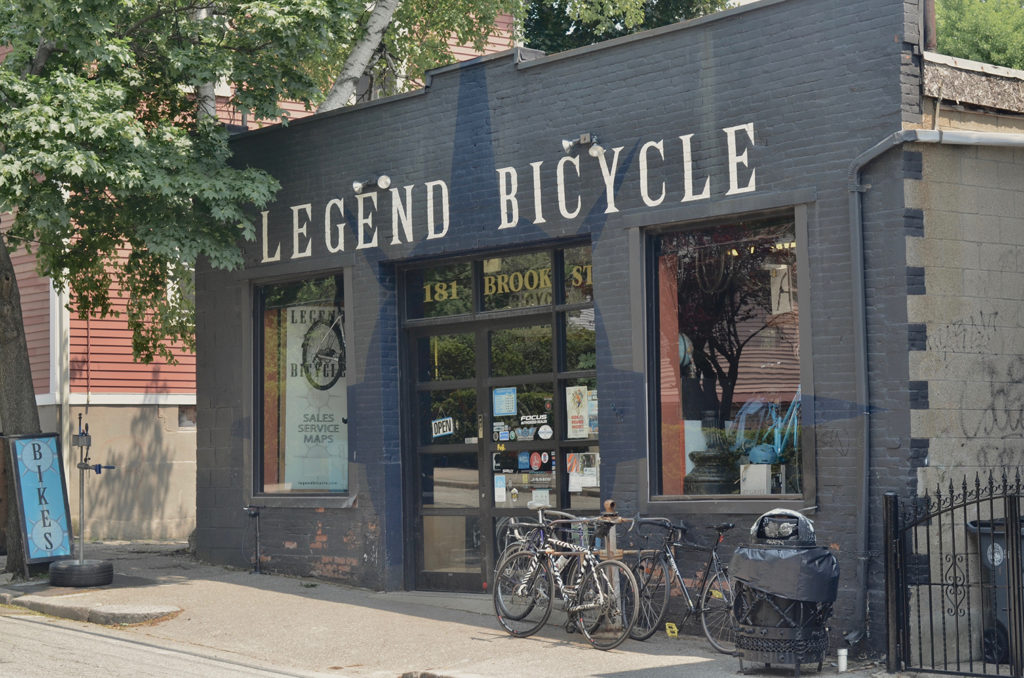storefront of Legend Bicycle